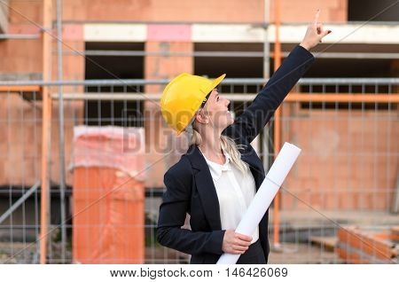 Young Woman Architect Or Site Supervisor