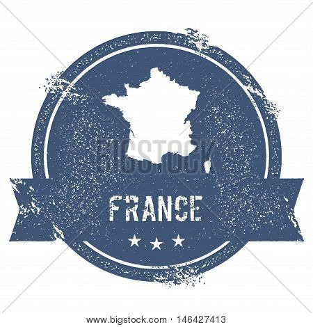 France Mark. Travel Rubber Stamp With The Name And Map Of France, Vector Illustration. Can Be Used A