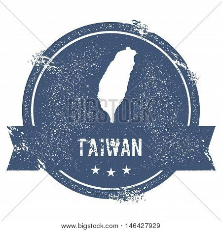 Taiwan, Republic Of China Mark. Travel Rubber Stamp With The Name And Map Of Taiwan, Republic Of Chi