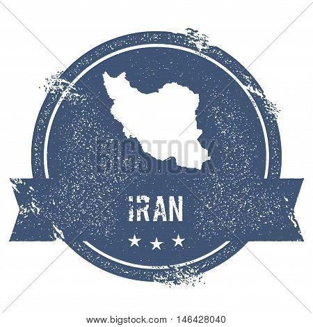 Iran, Islamic Republic Of Mark. Travel Rubber Stamp With The Name And Map Of Iran, Islamic Republic