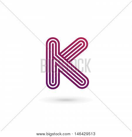 Letter K Logo Icon Design Template Elements