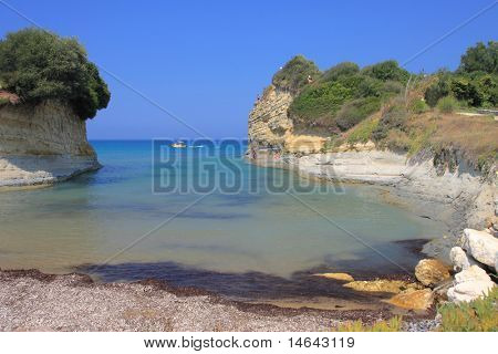 Canal d'amour on corfu island Greece