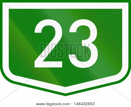 Route Shield Of A Numbered Main Road In Hungary