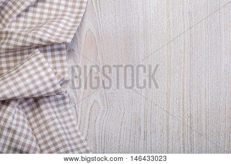 Tablecloth On A White Wooden