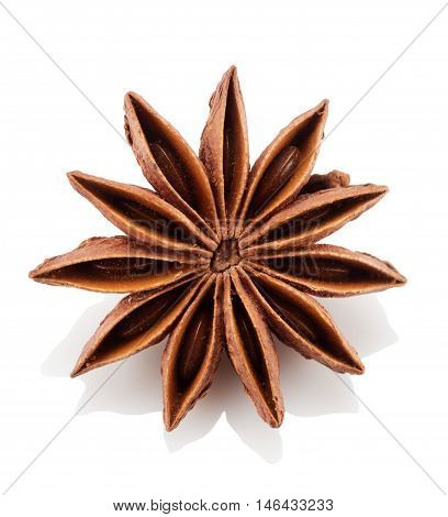 Star anise on a white background. Isolated