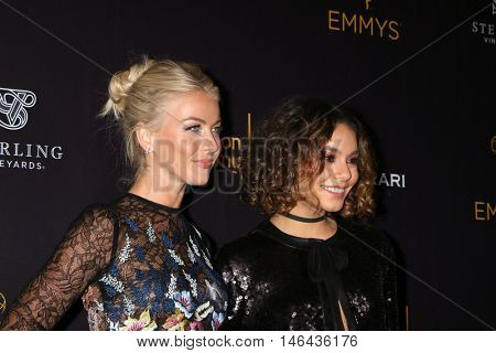 LOS ANGELES - SEP 8:  Julianne Hough, Vanessa Hudgens at the TV Academy Reception for the Nominees for Outstanding Casting at the Montage Hotel on September 8, 2016 in Beverly Hills, CA