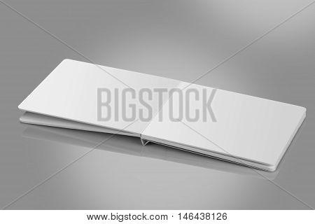 Open Blank Book / Brochure For Mockups