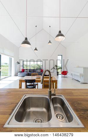 Trendy Wooden Countertop