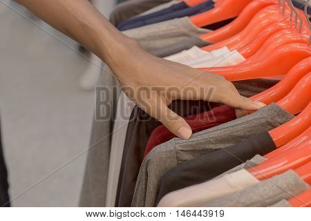 Clothing sold in the marketshopping for clothes
