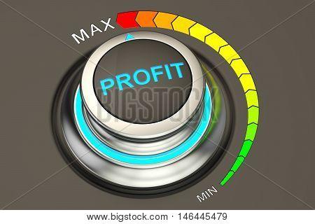 Profit concept highest level of success. 3D rendering