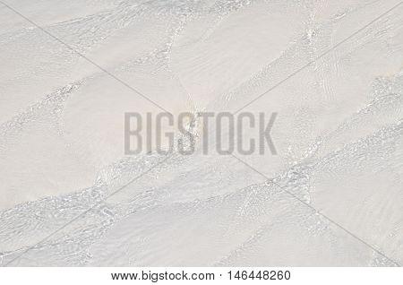 Water pattern on a sand. Picture taken in Turkey