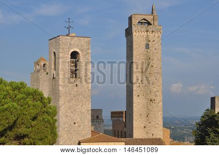 View Of The City Of San Gimignano