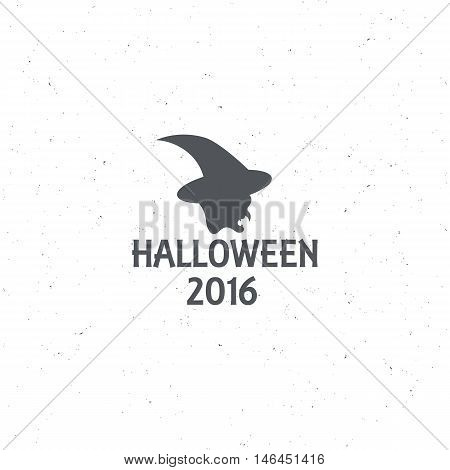 The emblem or poster for Halloween 2016 with the head witch, for decorating party. illustrations