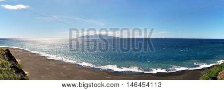 Cliff In Sao Filipe Gives Away To The Amazing Black Sand Beach Of Fonti Di Billa