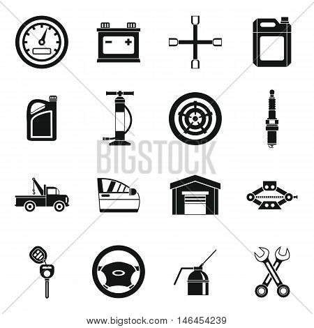 Car maintenance and repair icons set in simple style. Auto service set collection vector illustration