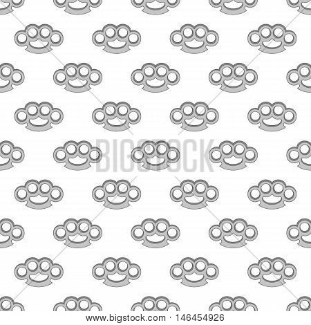 Knuckles seamless pattern on white background. Protection design vector illustration