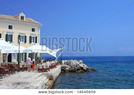 Cafe on Corfu island Greece