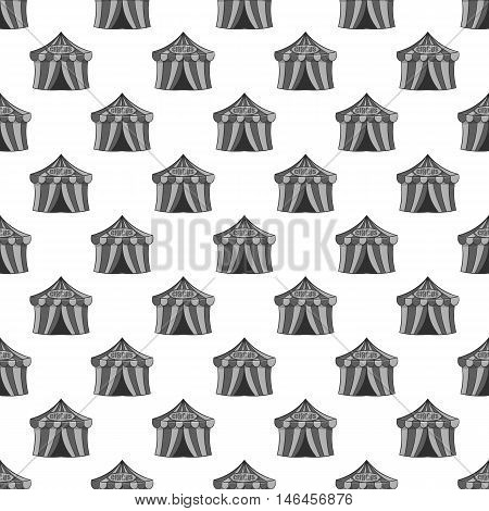 Circus tent seamless pattern on white background. Entertainment design vector illustration