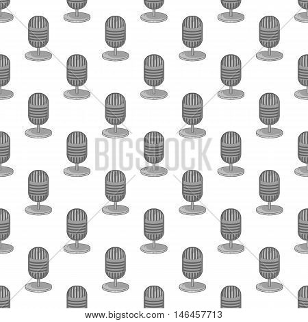 Microphone seamless pattern on white background. Voice design vector illustration