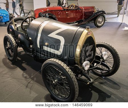 Verona Italy - May 9 2015: The municipality of Verona organizes a free gathering of sports and antique cars in Verona on Saturday May 9 2015. Are exposed the most beautiful cars in the world.
