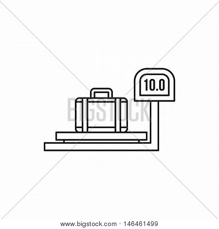 luggage weighing icon in outline style on a white background vector illustration
