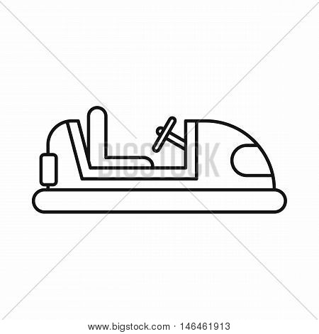 Bumper car icon in outline style on a white background vector illustration