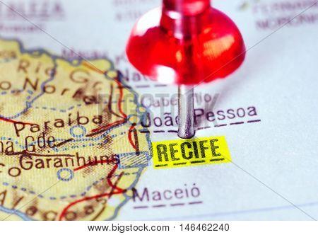Map Of  Recife  Brazil