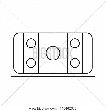 Ice hockey rink icon in outline style on a white background vector illustration
