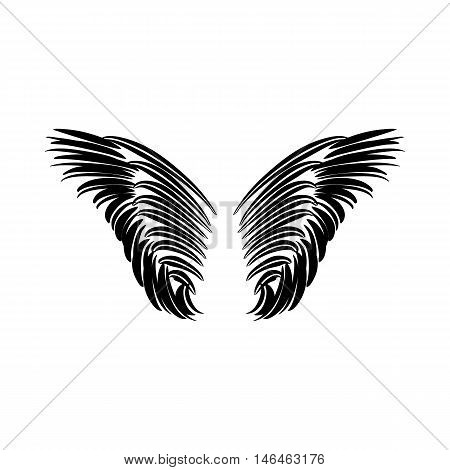 Pair of wings icon in simple style on a white background vector illustration