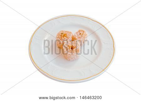 Delicious Turkish Delights On A White Background