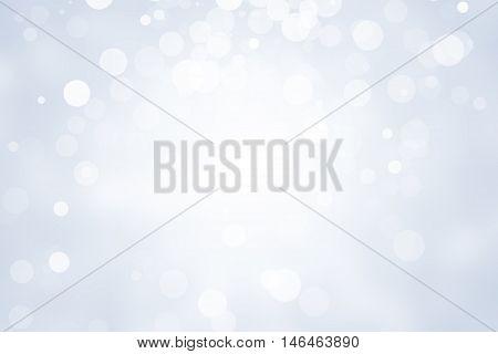 white bokeh blur background. Circle light on gray background, abstract light background. christmas background, new year background
