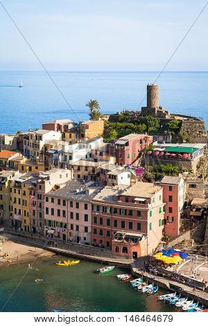 Vernazza In Cinque Terre, Italy - Summer 2016 - View From The Hill
