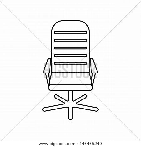 Office chair icon in outline style on a white background vector illustration