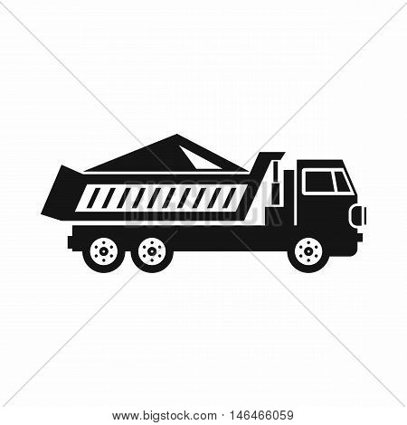 Dump track icon in simple style on a white background vector illustration