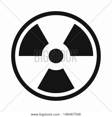 Danger nuclear in simple style isolated on white background vector illustration