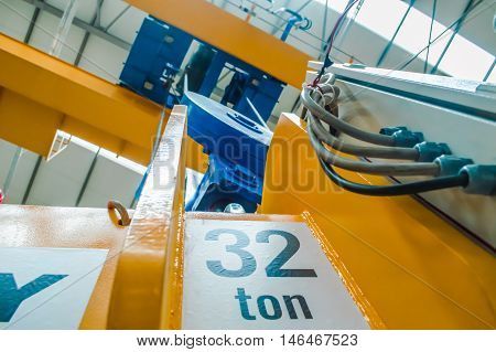Heavy industry lifting equipment in a factory