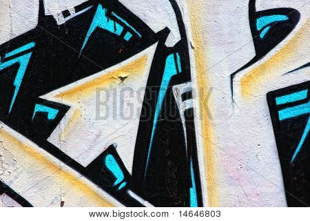 ein awesome bunten Graffiti-Bild
