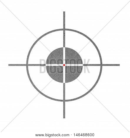 Made of Paper Target icon, sight sniper symbol isolated on a white background with clipping path.