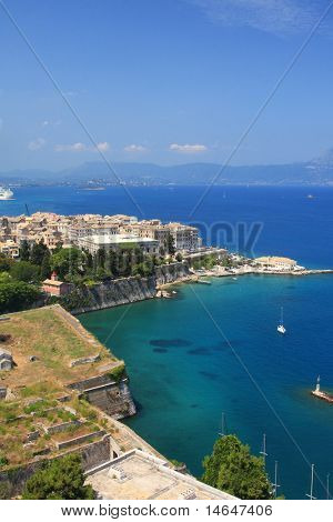 Overview on Corfu town