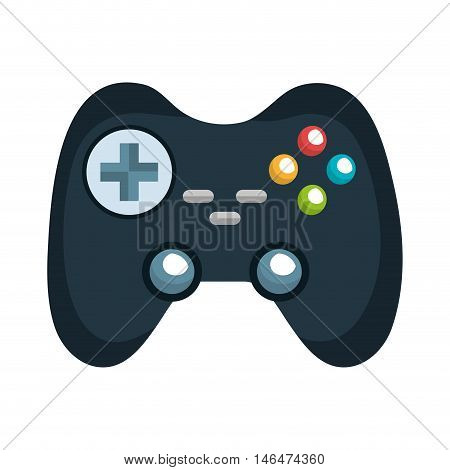 control player videogame with navigation buttons and joystick. vector illustration