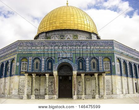 Dome Of The Rock. The Most Known Mosque In Jerusalem.