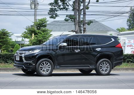 CHIANGMAI, THAILAND - AUGUST 10, 2016: Mitsubishi Pajero Suv Car. On road no.1001 8 km from Chiangmai city.