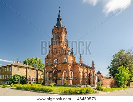 The Temple Of The Holy Rosary Of The Blessed Virgin Mary Catholic Church In Vladimir, Russia