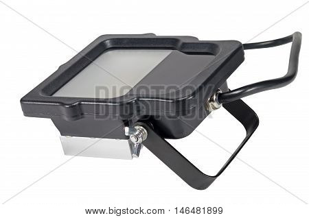 Outdoor Waterproof LED Floodlight Isolated On White Background