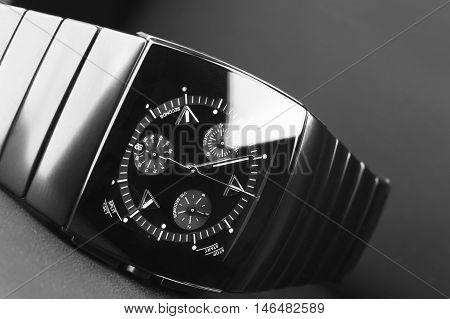 Black Mens Chronograph Watch