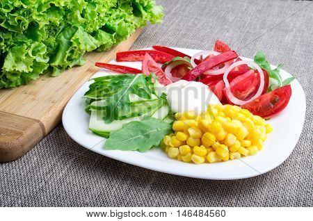 Healthy Dish Made From Natural  Ingridients