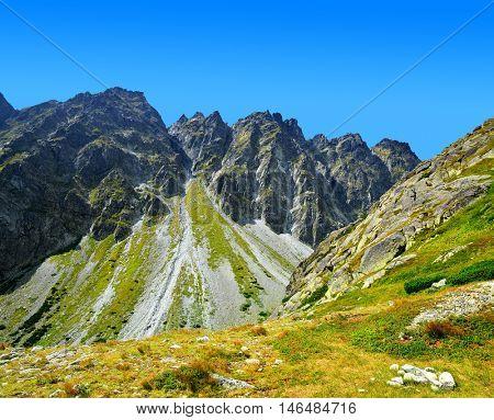 Mountain Satan. Mengusovska Valley in Vysoke Tatry (High Tatras), Slovakia