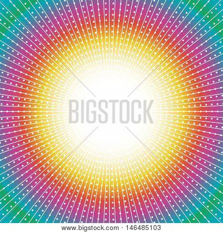 Vector abstract tunnel background illustration on rainbow