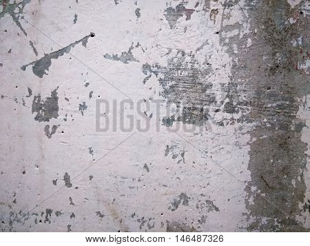 closeup shot of aged and decayed metal surface in white and grey