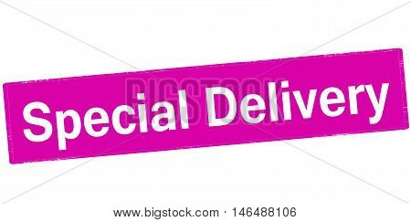 Rubber stamp with text special delivery inside vector illustration